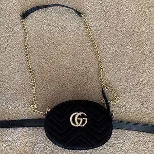 GG velvet Fanny pack cross body bag purse